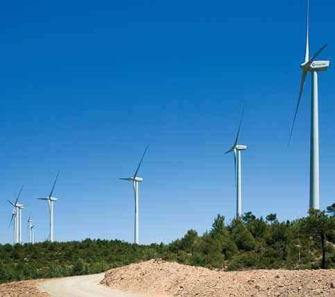 Wind power plant in Rubió